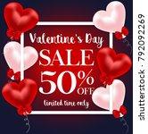 valentine's day sale banner | Shutterstock . vector #792092269