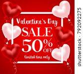 valentine's day sale banner | Shutterstock . vector #792092275