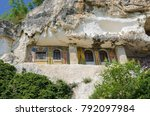 basarbovo rock monastery ... | Shutterstock . vector #792097984