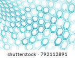 abstract background of hexagons ... | Shutterstock .eps vector #792112891