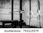 gym interior closeup of... | Shutterstock . vector #792115579