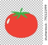 tomato on transparent. tomato... | Shutterstock .eps vector #792121999