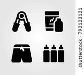fitness vector icons set.... | Shutterstock .eps vector #792123121