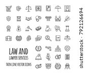 law and lawyer services icons... | Shutterstock .eps vector #792126694