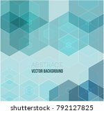 green grid mosaic background ... | Shutterstock .eps vector #792127825