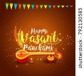illustration of happy vasant... | Shutterstock .eps vector #792130585