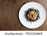 gourmet food birds eye view on...   Shutterstock . vector #792131869