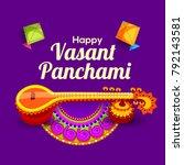 illustration of happy vasant... | Shutterstock .eps vector #792143581