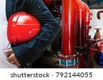 abstract engineer contractor... | Shutterstock . vector #792144055