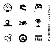 set of black icons isolated on... | Shutterstock .eps vector #792144274