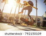 Skater Boy Going At The Skate...