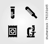 medical vector icons set. band... | Shutterstock .eps vector #792151645