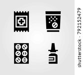 medical vector icons set. band... | Shutterstock .eps vector #792152479