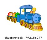 easter card toy locomotive toys ... | Shutterstock .eps vector #792156277