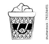 figure happy papers can kawaii... | Shutterstock .eps vector #792156451