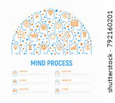 mind process concept in half...   Shutterstock .eps vector #792160201