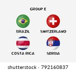 group e of nation flag in ball... | Shutterstock .eps vector #792160837