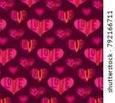 mod valentines day heart...   Shutterstock .eps vector #792166711
