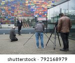Small photo of HILVERSUM,HOLLAND,10-01-2018: Wimar Jaeger the loco mayor of Hilversum interview for the dutch television, Wimar Jaeger is responsable for the media activities in Hilversum