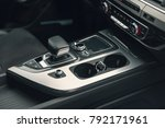 gear lever in the modern car ... | Shutterstock . vector #792171961