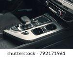 gear lever in the modern car ... | Shutterstock . vector #792171961