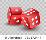red dices on transparent... | Shutterstock .eps vector #792172447