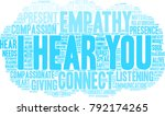 i hear you word cloud on a... | Shutterstock .eps vector #792174265