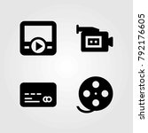 technology vector icons set.... | Shutterstock .eps vector #792176605
