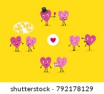love story. a collection of... | Shutterstock .eps vector #792178129