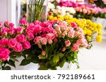 bouquets roses at a florist's... | Shutterstock . vector #792189661
