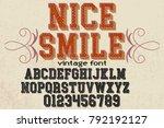vintage font alphabet...   Shutterstock .eps vector #792192127