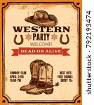 advertising of western party... | Shutterstock .eps vector #792193474
