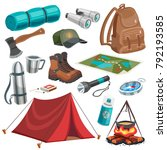 camping scouting isolated... | Shutterstock .eps vector #792193585