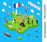 france isometric cultural... | Shutterstock .eps vector #792193597