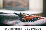 prayer beads inside the mosque | Shutterstock . vector #792195301