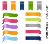 ribbons set  isolated on white... | Shutterstock . vector #79219939