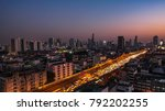 night urban traffic road with... | Shutterstock . vector #792202255