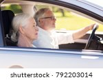 road trip  travel and old... | Shutterstock . vector #792203014