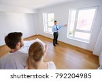 mortgage  people and real... | Shutterstock . vector #792204985