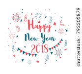 happy new year celebration... | Shutterstock .eps vector #792205879