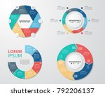 set of circle infographics... | Shutterstock .eps vector #792206137