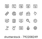 search engine optimisation icon ... | Shutterstock .eps vector #792208249