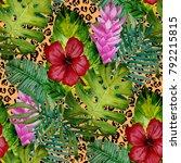 watercolor seamless pattern... | Shutterstock . vector #792215815