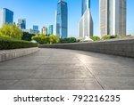 panoramic skyline and modern... | Shutterstock . vector #792216235