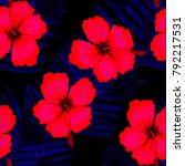 watercolor seamless pattern... | Shutterstock . vector #792217531