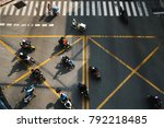 motorcyclists at the crossroads ... | Shutterstock . vector #792218485