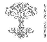 vector celtic national drawing...   Shutterstock .eps vector #792219889