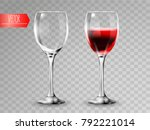 transparency wine glass. empty... | Shutterstock .eps vector #792221014