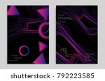 abstract banner template with... | Shutterstock .eps vector #792223585