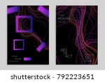 abstract banner template with... | Shutterstock .eps vector #792223651
